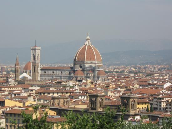 la citta da piazzale Michelangelo... - Firenze (3822 clic)