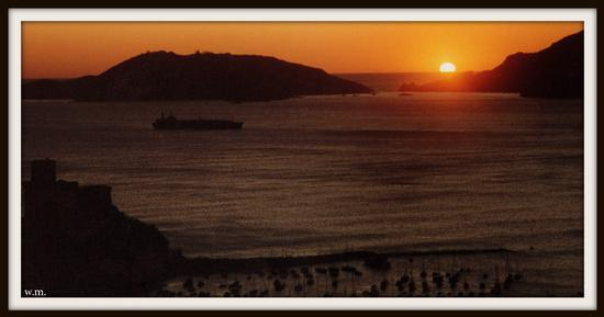 lerici,il golfo dei poeti al tramonto... (1480 clic)