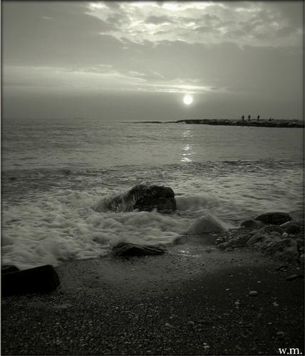 il mare calmo della sera... - Marina di massa (630 clic)