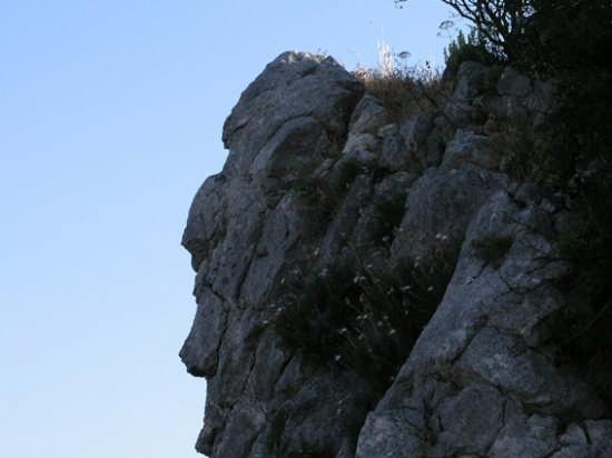 Profilo di vecchio filosofo Monte Consolino  - Stilo (2132 clic)