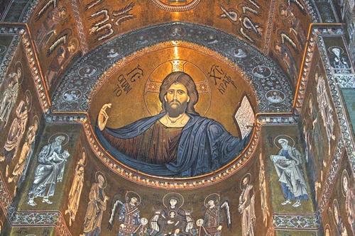 cristo pantocratore(cattedrale di monreale) (8900 clic)