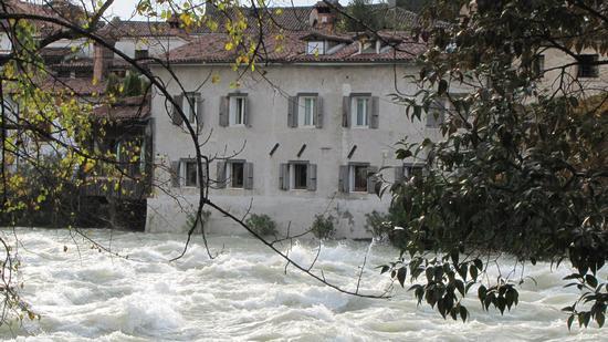 la Brenta irruenta - Bassano del grappa (1002 clic)
