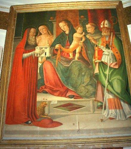 Ortezzano, Pala d'altare di Vincenzo Pagani, Chiesa s. Maria (3053 clic)