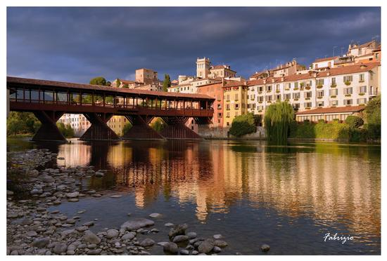 Il Ponte al tramonto - Bassano del grappa (2900 clic)