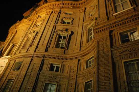 Torino: particolare della facciata di palazzo Carignano di Guarino Guarini (3951 clic)