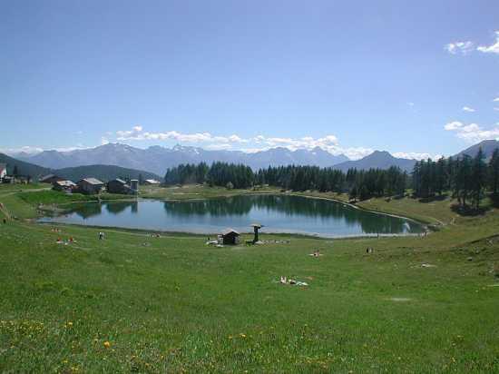 Chamois: panorama del lago di Lod (5673 clic)