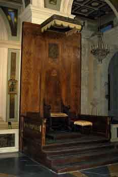 La cattedra arcivescovile del XVIII sec - Savelli (995 clic)