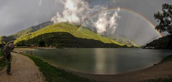 Arcobaleno sul lago di Ledro - Pieve di ledro (746 clic)