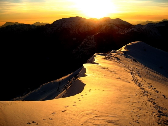 Tramonto da cima Tremalzo (6666 clic)
