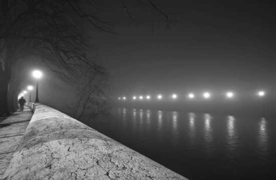 Nebbia sul Lungadige Panvinio | VERONA | Fotografia di Lorenzo Linthout