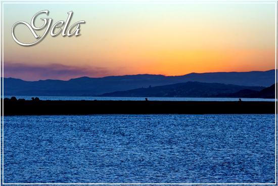 Tramonto sul mare di Gela (1381 clic)