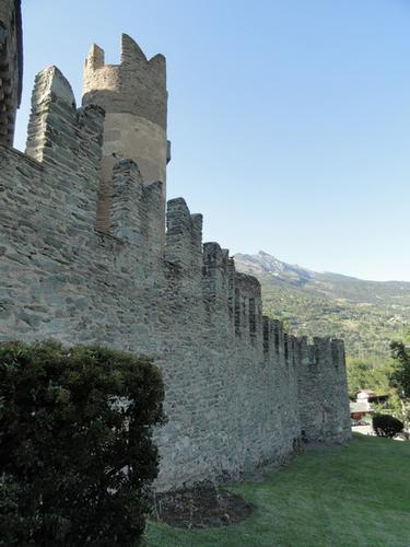 Le mura d'oriente del castello - Fenis (2191 clic)