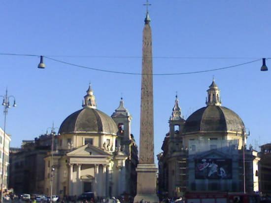 simmetrie di piazza del popolo - ROMA - inserita il 18-Apr-09