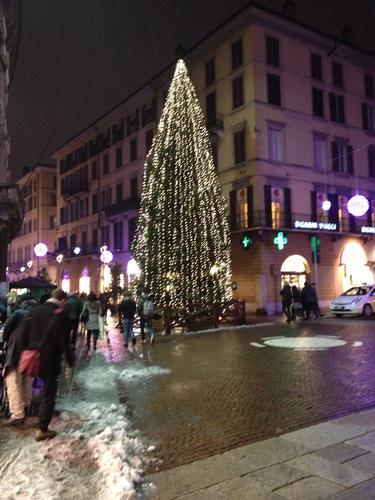 Brescia Corso Zanardelli Natale con la neve (1102 clic)