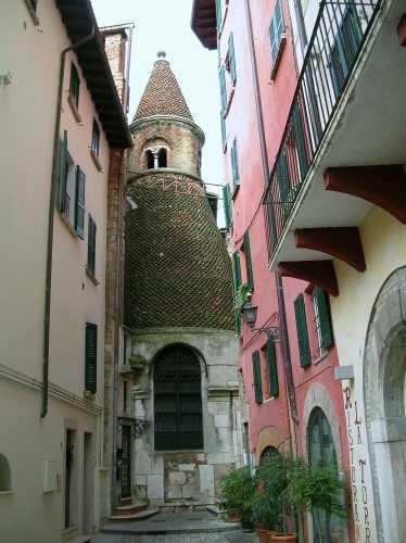 San Faustino in Riposo il campanile conico - Brescia (3034 clic)