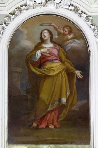 Barbara, chiesa di Santa Barbara. Sebastiano Conca, Santa Barbara, olio su tela (4839 clic)