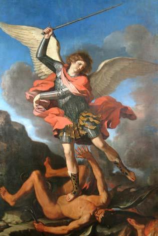 Fabriano, chiesa di San Niccolo'. Il San Michele Arcangelo del Guercino (7853 clic)