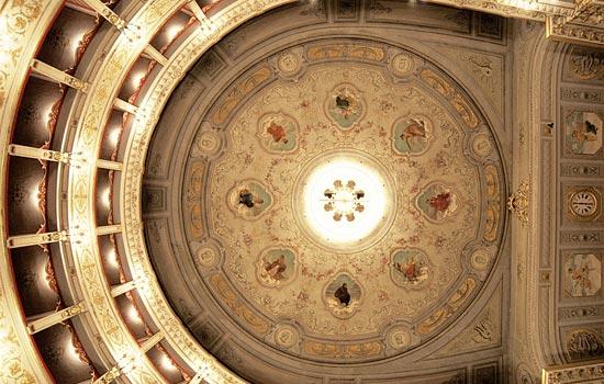 Fabriano, Teatro Gentile (soffitto) (2489 clic)