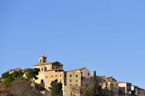 Mergo, veduta del borgo (1945 clic)