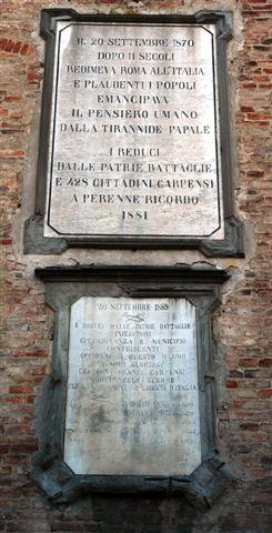 Palazzo dei Pio Targa xx settembre - Carpi (2050 clic)