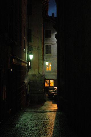 Centro storico di notte - Sassello (2967 clic)
