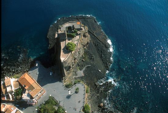 il castello in una veduta aerea - Aci castello (3727 clic)