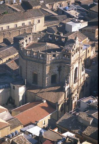 caltagirone, veduta aerea del centro storico (3387 clic)