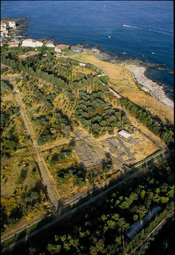 veduta aerea dell'area archeoligica - Giardini naxos (3619 clic)