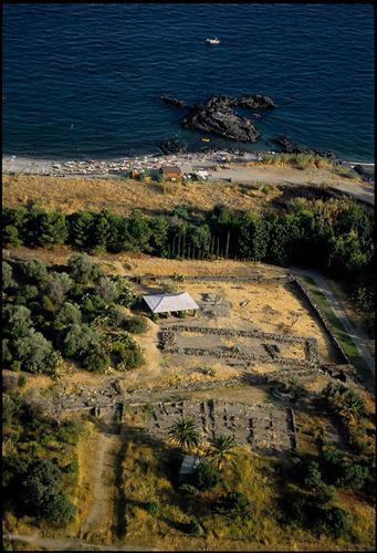 veduta aerea dell'area archeoligica - Giardini naxos (4596 clic)