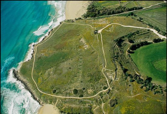 veduta aerea dell'area archeologica di eloro (2973 clic)