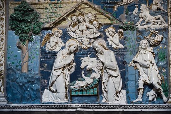 bassorilievo di Andrea della Robbia in santa maria della stella - Militello in val di catania (2130 clic)