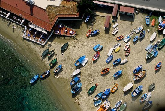 vista aerea della spiaggia di naxos - Giardini naxos (10898 clic)