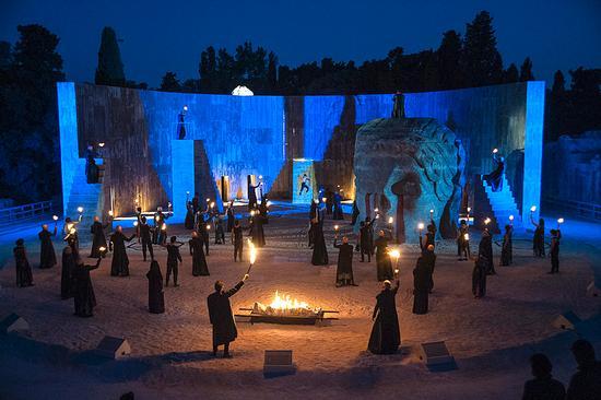 teatro greco, edipo re 2013 - Siracusa (1700 clic)