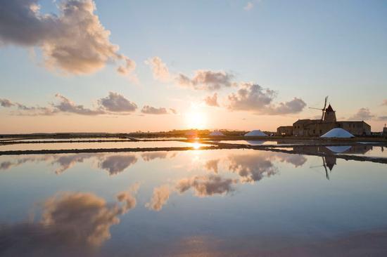 saline ettore e infersa al tramonto - Marsala (6045 clic)