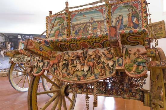 museo del carretto di terrasini, carretto palermitano (3072 clic)