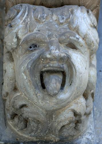 mensole del balcone di palazzo iudica-cafici, particolare - Palazzolo acreide (1656 clic)
