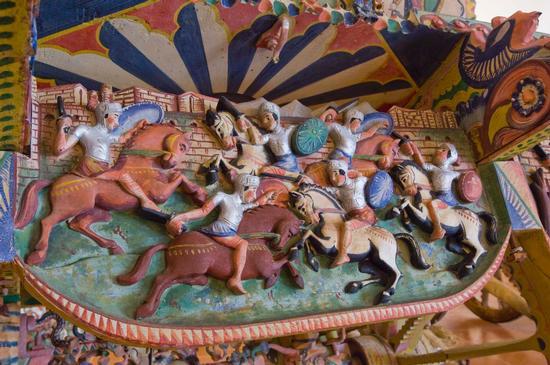 museo del carretto di terrasini, particolare di carretto palermitano (2484 clic)