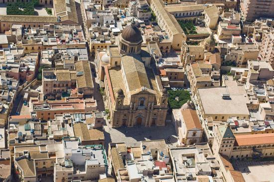 vista aerea del centro storico  - Marsala (2709 clic)