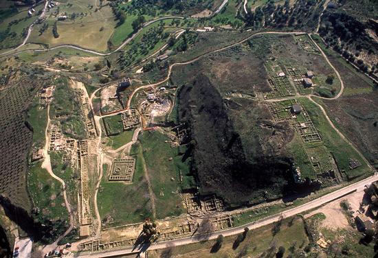 veduta aerea degli scavi di Morgantina (4352 clic)