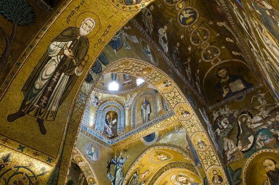cappella palatina, mosaici della volta - Palermo (5696 clic)