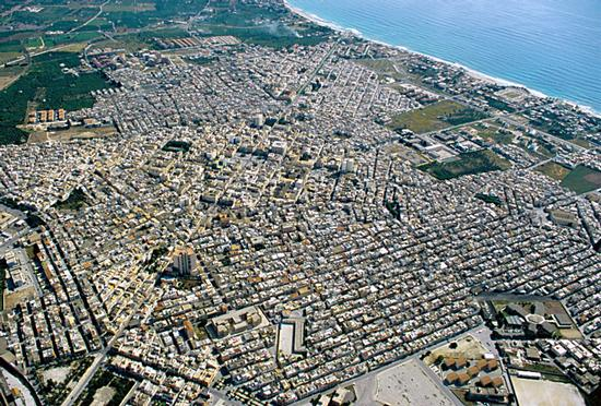 avola, vista aerea della città (6885 clic)