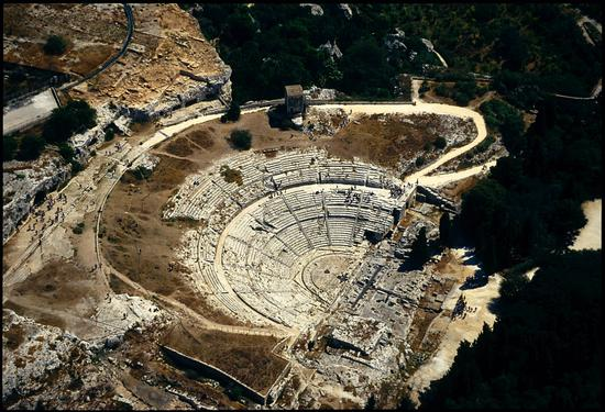 veduta aerea del teatro greco - Siracusa (5434 clic)