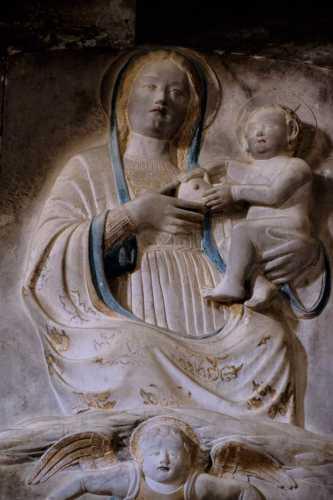 basilica san leone, bassorilievo, rinascimento, assoro enna, sicilia (4240 clic)
