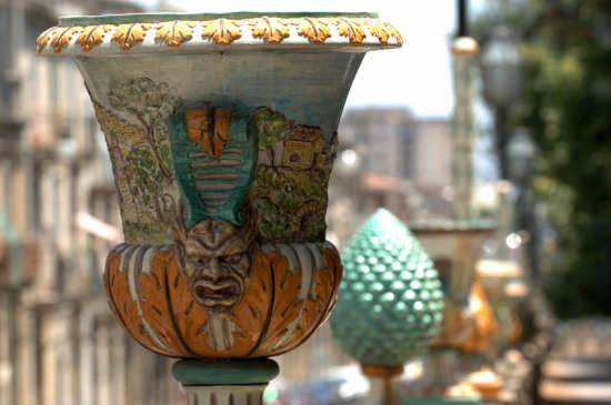 caltagirone, ceramiche della villa (6776 clic)