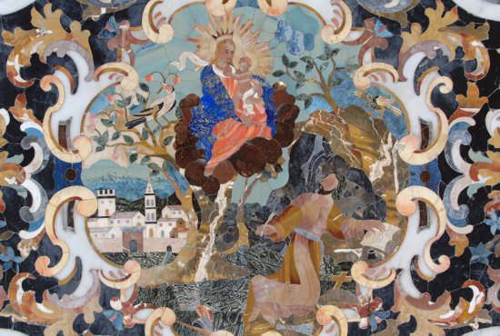 caltanissetta, chiesa dei  gesuiti paliotto in marmi policromo (4102 clic)