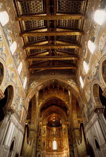 monreale, interno della cattedrale (4257 clic)
