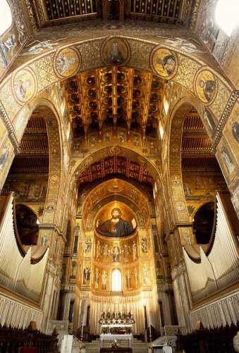 monreale, interno della cattedrale (6106 clic)