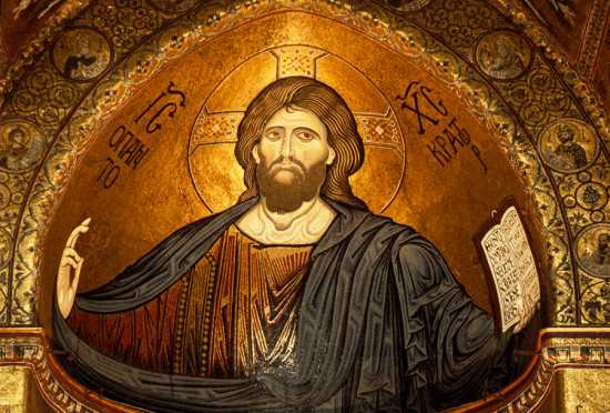 monreale, cristo pantocrate, mosaico della cattedrale (8444 clic)