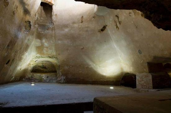 siracusa, catacombe di santa lucia (5280 clic)