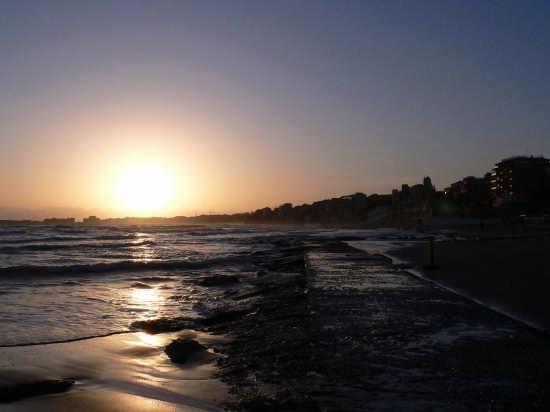 tramonto mare nettunense - Nettuno (3266 clic)